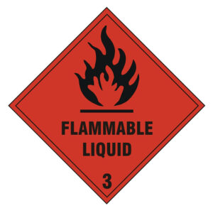 Flammable liquid sign (self-adhesive)